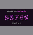 purple glowing font in the outline style vector image vector image