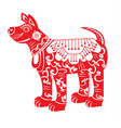 red dog chinese new year zodiac symbol 2018 vector image vector image