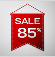 red pennant with inscription sale eighty five vector image