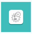 round button for business engineering management vector image