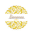 round pattern yellow bananas with space for vector image