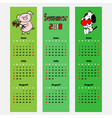 season calendar summer color bookmark vector image