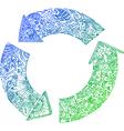Sketchy doodles recycle arrows vector image