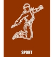 Sport Girl Jumping vector image vector image