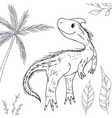 stylized dinosaur of the middle to late cretaceous vector image vector image