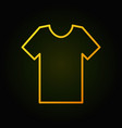 t-shirt outline yellow icon or symbol vector image vector image