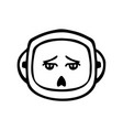 thin line tired face icon vector image vector image
