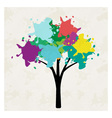 Tree with blots vector image vector image