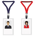 Two employee badges vector image vector image