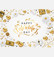 valentines day composition with romantic vector image
