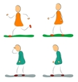 four positive and depression female icons vector image