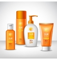 Sunscreen Protection Cosmetics vector image