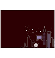 Abstract City Night Outline vector image