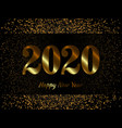 2020 new year background with gold glitter vector image vector image