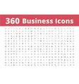 360 business icons vector image
