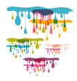 Abstract Background - Colorful Splashes Blots vector image