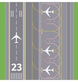 Airport landing airstrips vector image vector image