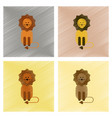 assembly flat shading style icons cartoon lion vector image vector image