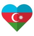 Azerbaijan flat heart flag vector image vector image