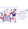 Back to school concept with education supplies and