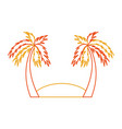 beach landscape isolated icon vector image vector image