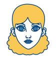 beautiful woman face cartoon vector image vector image