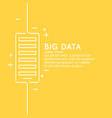 big data in a linear style on a vector image vector image