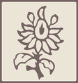 blossom stamp vector image