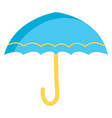 blue and yellow umbrella color on white background vector image
