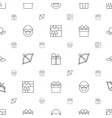 bow icons pattern seamless white background vector image vector image
