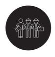 building engineers black concept icon vector image vector image