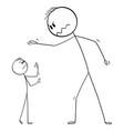 cartoon big man yelling at small man or boss vector image vector image