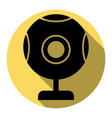 chat web camera sign flat black icon with vector image