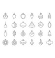christmas ball ornaments icon set 2 outline vector image vector image