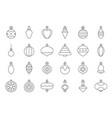 christmas ball ornaments icon set 2 outline vector image