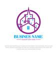 city logo designs vector image vector image