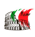 coliseum in rome italy vector image vector image