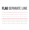 colorful flag separate line design layout vector image vector image