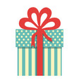 colorful gift box with decorative ribbon vector image vector image