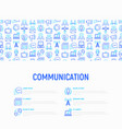 communication concept with thin line icons vector image vector image