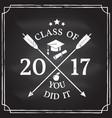 congratulations graduates class of 2017 vector image vector image