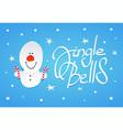 cute snowman witn christmas lollipops in hands vector image vector image