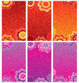 Decorative floral banners vector image