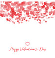 decorative valentines day heart background vector image vector image