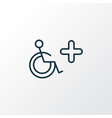 disabled sign icon line symbol premium quality vector image