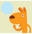 Dog Balloon talk vector image vector image
