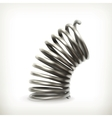 Elastic metal spring vector image vector image