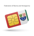 Federation of Bosnia and Herzegovina phone sim vector image