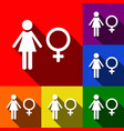 female sign set of icons vector image vector image