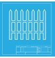 Fence simple sign White section of icon on vector image